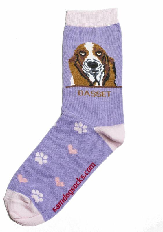 Basset Hound Dog Socks
