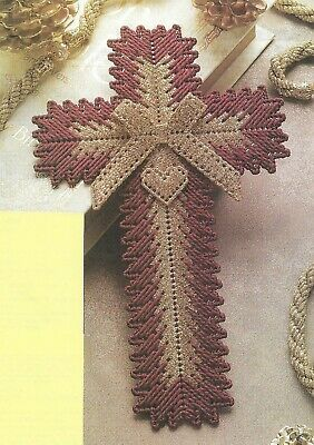 CHRISTMAS CROSS PLASTIC CANVAS PATTERN INSTRUCTIONS  Plastic Canvas Cross