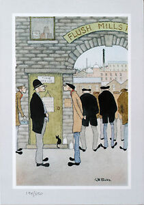 'So Tha Wants a Job' by Geoff Birks Limited Print + FREE Badge - VERY RARE
