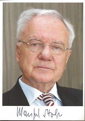 Autogramm Manfred Stolpe Ministerpräsident Brandenburg a.D. handsigniert color#
