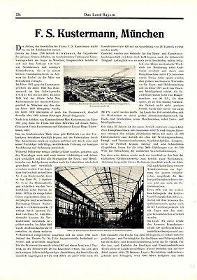 Maschinenfabrik Kustermann München XXL Reklame 1927 Eisenbau Gießerei Werbung