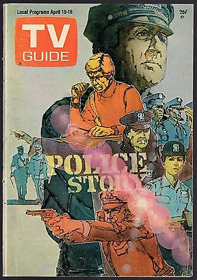 1976 POLICE STORY~TV GUIDE COVER'S ONLY~ARTIST JIM SHARPE POLICE SCENE