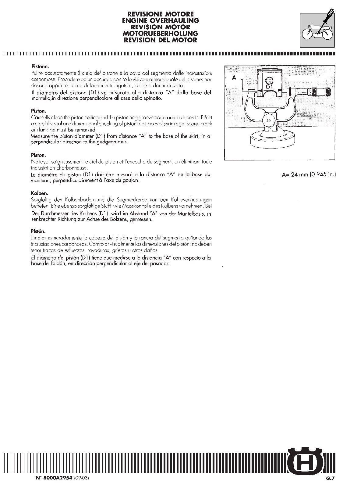 3 of 12 Husqvarna workshop service manual 2004 WR 250 & CR 250