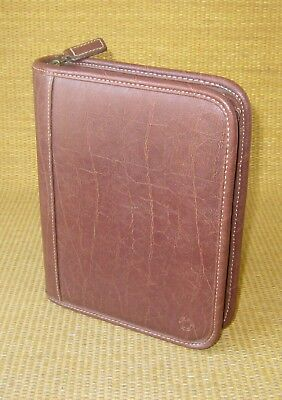 Compact 1.25 Rings Brown Distressed Sim Leather Franklin Covey Plannerbinder