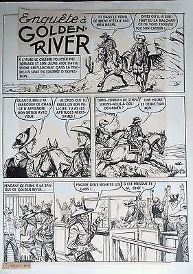 Planche originale Enquète à golden River 1 1976 Bob dan Robert Dansler