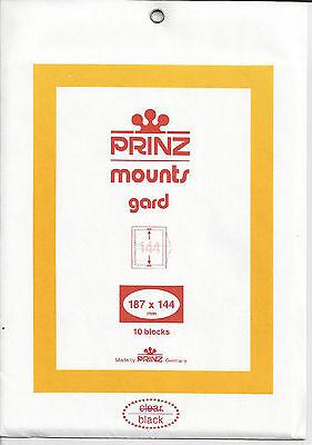 Package of 10 Prinz BLACK Mounts 187 x 144