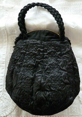 1940s Handbags and Purses History Vintage Persian Lamb Fur Muff Purse Bag Hand Warmer Braided Handles Zipper Close $28.31 AT vintagedancer.com
