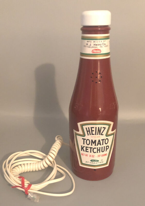 Vintage Heinz Ketchup Bottle Phone 1984 Telephone ~Very Cool~