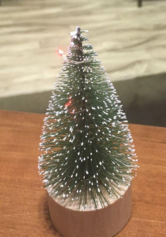 Bottle brush Christmas lighted tree