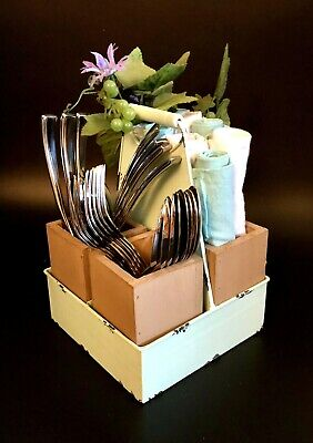 Flatware Caddy 4-Piece Set Rustic Serving Special Occasion Centerpiece](Paper Plate Caddy)