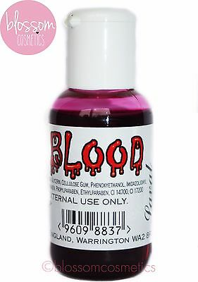 Laval Fake Blood Halloween Fancy Dress Make Up Gore Horror Zombie 50ml Drip On - Fake Blood On Clothes Halloween