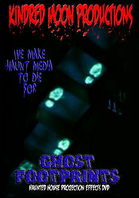 Ghost Footprints Projection Effects DVD Haunted Mansion House Halloween  prop - Halloween Ghost Projection Dvd