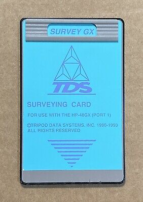 Tds Survey Gx Card For Hp 48gx Data Collector