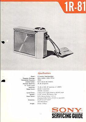 Sony Service Manual für 1 R- 81