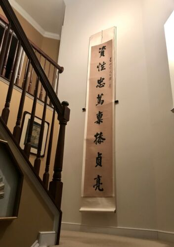 Vintage large Chinese calligraphy Scroll