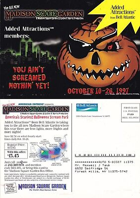 Halloween Party Advertisement (HALLOWEEN SCREAM PARTY AT MADISON SCARE GARDENS ADVERTISING COLOUR POSTCARD)