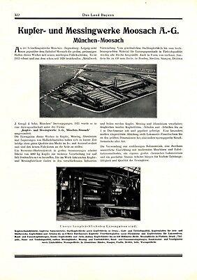 Kupfer und Messingwerk Moosach XL Reklame 1927 München Goeggl Werbung
