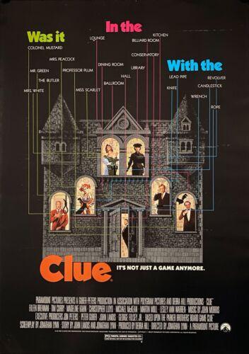 "CLUE ORIGINAL 1985 MOVIE POSTER 24"" X 17"" ROLLED"