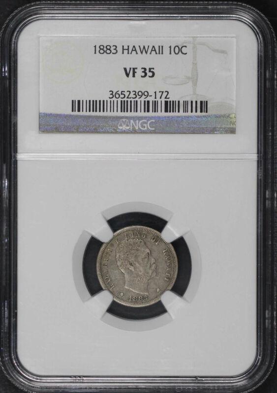 1883 Kingdom of Hawaii Silver Dime NGC VF-35 -116074