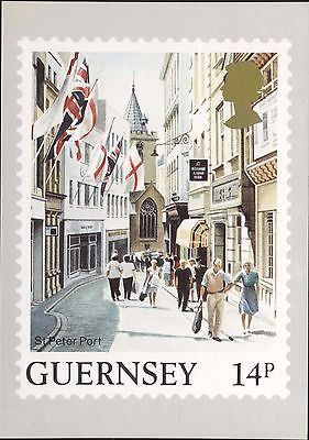 Definitive Stamp Issue Guernsey St Peter Port Postcard C256