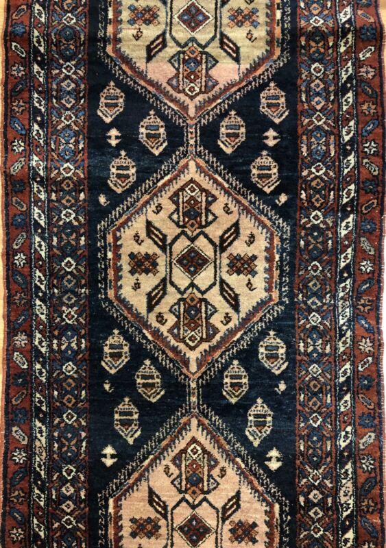Tremendous Tribal - 1920s Antique Kurdish Rug - Tribal Runner - 3.3 X 12.2 Ft.
