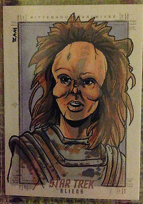 Star Trek Aliens Sketch card by Rich Molinelli