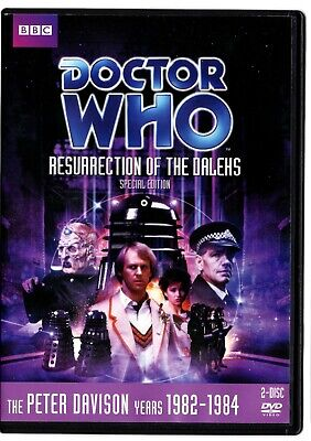 DOCTOR WHO: RESURRECTION OF THE DALEKS (DVD, 2012) Story #134 Peter Davison
