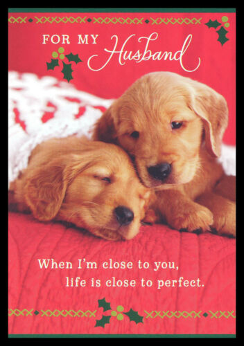 288GC Dog Puppy Retriever - For My Husband - Christmas Greeting Card