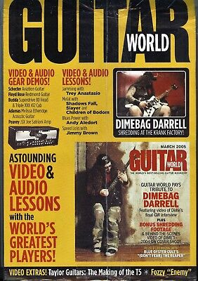 PANTERA DIMEBAG DARRELL Guitar World Tribute Issue March 2005 with CD-ROM COOL