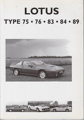 LOTUS ELITE ECLAT EXCEL TYPE 75 76 83 84 & 89 (1974-86) PERIOD ROAD TESTS BOOK