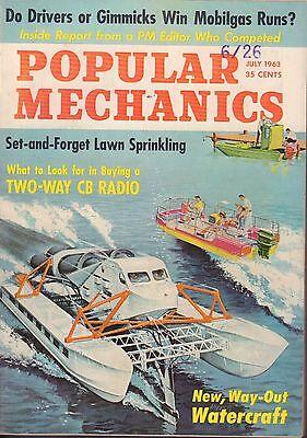 Popular Mechanics Magazine July 1963 Way-Out Watercraft 081917nonjhe