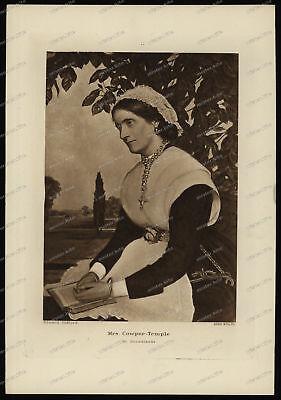 Druck-Stahlstich-Engraving-Edward Clifford-Allen&Co.Sc-Mrs Cowper-Temple-88