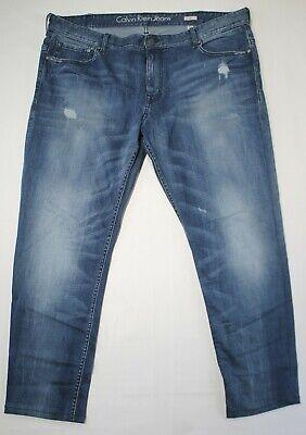 Calvin Klein CK Mens Denim Blue Jeans Slim Straight 40 X 32