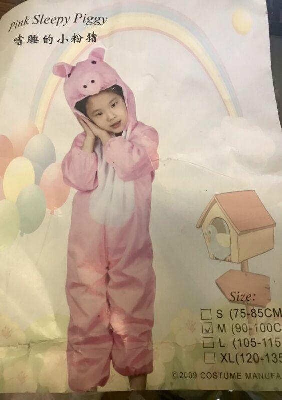 KIDS Pink SLEEPY Pig Costume SIZE 3-4 ~ BRAND NEW!
