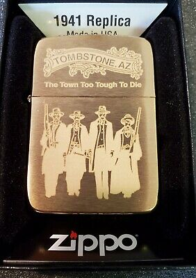 RARE Limited Edition 1941 Brass Zippo Lighter Tombstone AZ