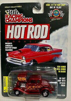 Racing Champions Hot Rod Red w/Flames '32 Ford  Coupe Issue #17 NOC 32 Ford Coupe Hot Rod
