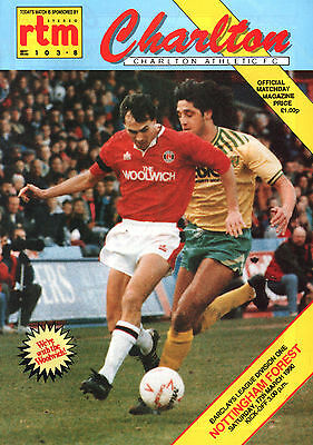 1989/90 Charlton Athletic v Nottingham Forest, Division 1, PERFECT CONDITION