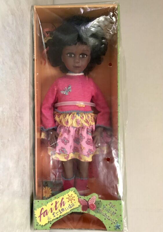 """NEW Robin Woods 13.5"""" Faith And Friends Praying Baby Doll """"True Blue"""" New in Box"""