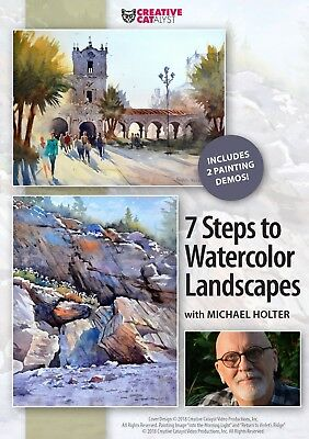 MICHAEL HOLTER: 7 STEPS TO WATERCOLOR LANDSCAPES -ART EDUCATION - Michael Art Supply