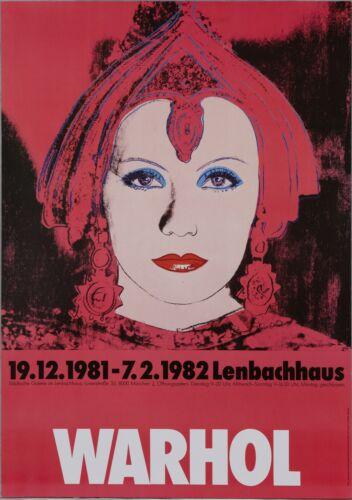Andy Warhol Rare Vintage 1981-82 Original The Star Lenbachhaus Poster
