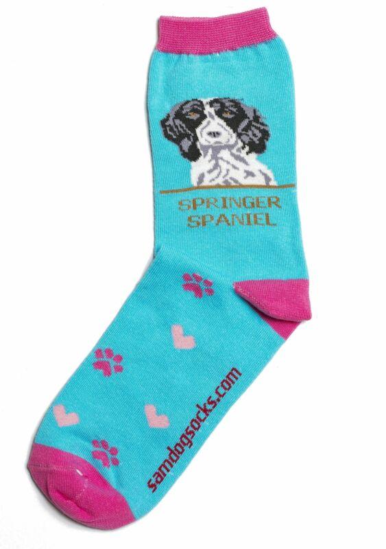 Spaniel Black Dog Socks