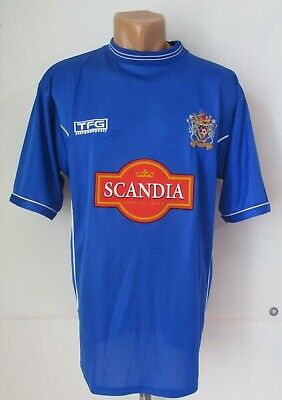 STOCKPORT COUNTY 2002/2003/2004 HOME FOOTBALL SHIRT SOCCER JERSEY TFG M 38-40