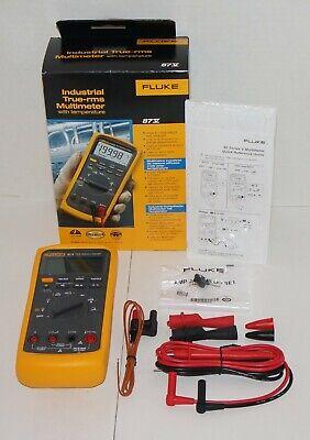 Fluke 87-v 87v Industrial Automotive Truerms Digital Multimeter Temperature New