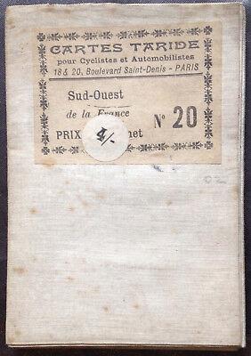 Card Taride No.20 - Southwest [Bordeaux - Toulouse] Cartographer : P. Bineteau