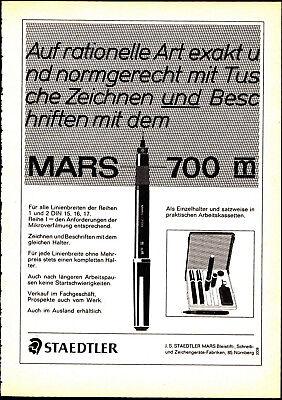 3w2594/ Alte Reklame von 1969 - STAEDTLER Mars 700m - Nürnberg