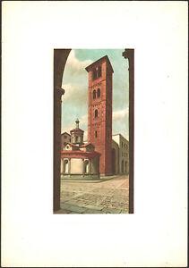 CARTOLINA-CAMPANILI-D-039-ITALIA-di-DANDOLO-BELLINI-MILANO-S-SATIRO-1960