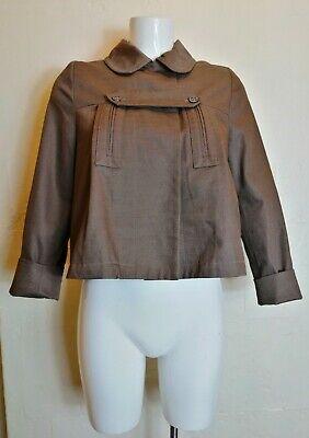 SALE CHLOE Cocoa Brown Swing Coat Jacket 14 Years Or Women XS