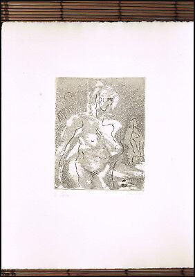 Vent,Hans - weiblicher Akt - nummeriert,signiert,1982,Prägestempel,RAR,s.Bild !!