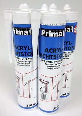 5 x Acryl Bostik 300 ml weiß Dichtstoff Bauacryl Dichtmasse Silikon Kartusche