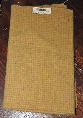 1/4 YD 100% WOOL FOR RUG HOOKING OR WOOL APPLIQUE ~ CORNMEAL